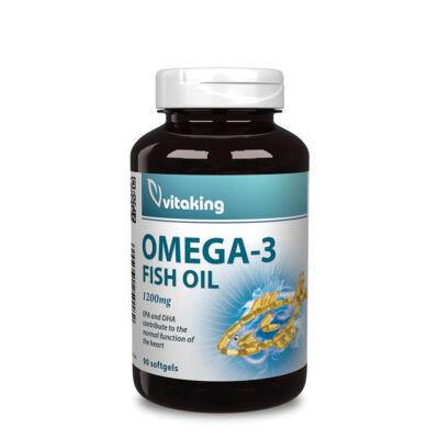 Vitaking Omega-3 1200mg halolaj kapszula – 90db