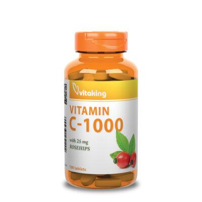 Vitaking C-vitamin 1000mg csipkebogyóval 100db