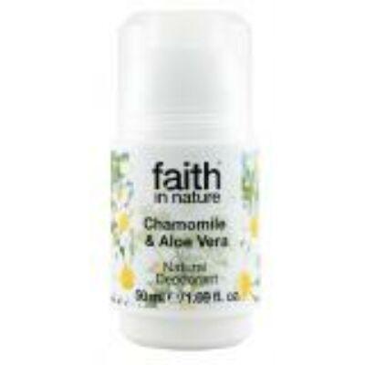 Faith in Nature Sókristály golyós dezodor kamillával és bio aloe verával (50ml)