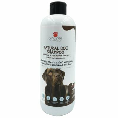 Waff natúr kutyasampon sötét szőrű kutyáknak csoki-áfonya illattal 400ml