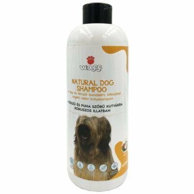 Waff natúr kutyasampon hosszú, puha szőrű kutyáknak kókusz illattal 400ml