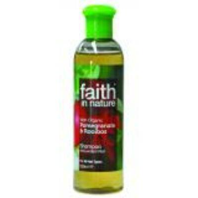 Faith in Nature Bio Gránátalma és Rooibos sampon (400ml)